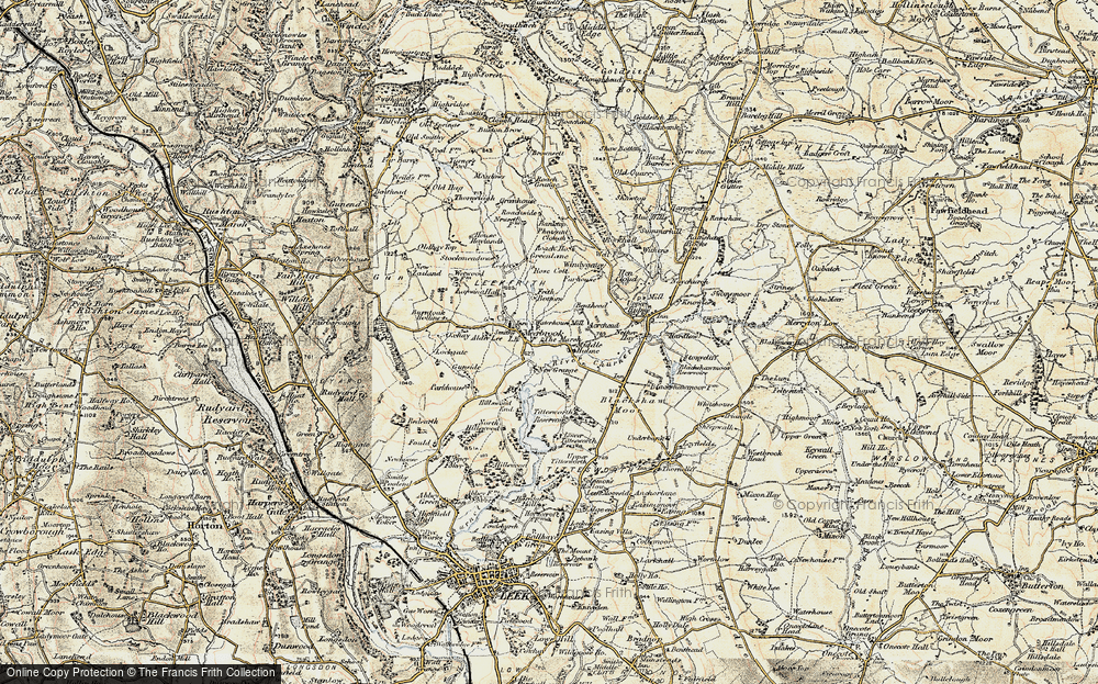Old Map of Historic Map covering Alder Lee in 1902-1903