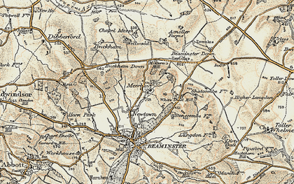 Old map of White Sheet Hill in 1898-1899