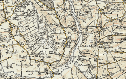 Old map of Woolladon in 1899-1900