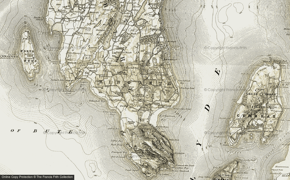 Old Map of Historic Map covering Ambrismore in 1906