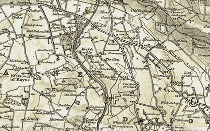 Old map of Windyhills in 1909-1910