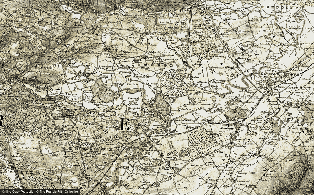 Old Map of Meikleour, 1907-1908 in 1907-1908