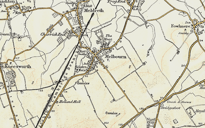 Old map of Melbourn in 1898-1901