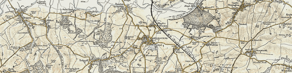Old map of Woodhouses in 1902-1903