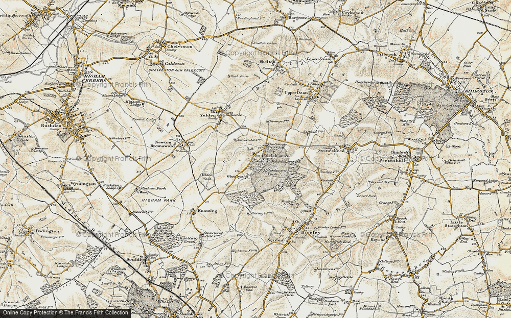 Old Map of Historic Map covering Woodleys in 1898-1901