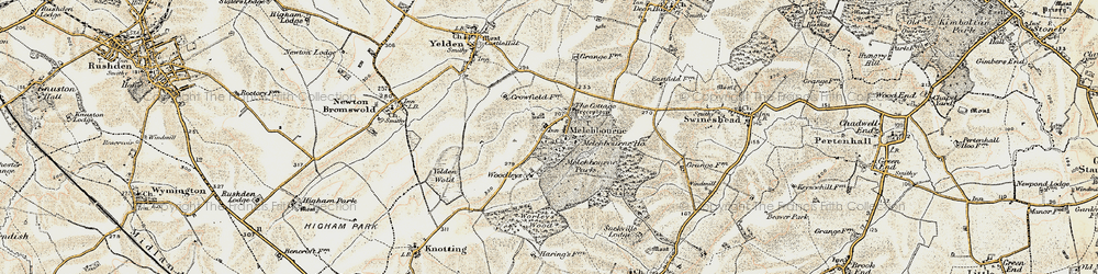 Old map of Woodleys in 1898-1901