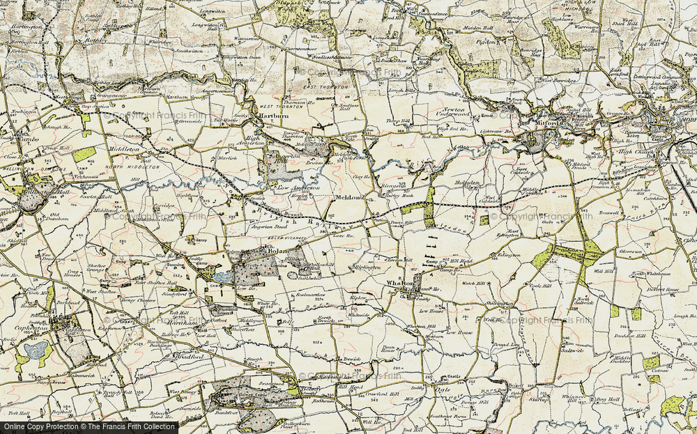 Old Map of Meldon, 1901-1903 in 1901-1903