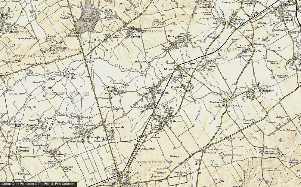 Old Map of Meldreth, 1899-1901 in 1899-1901