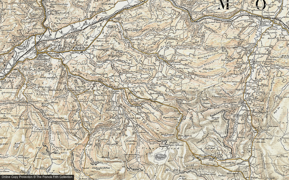 Old Map of Historic Map covering Bacheiddon in 1902-1903