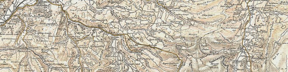 Old map of Melinbyrhedyn in 1902-1903