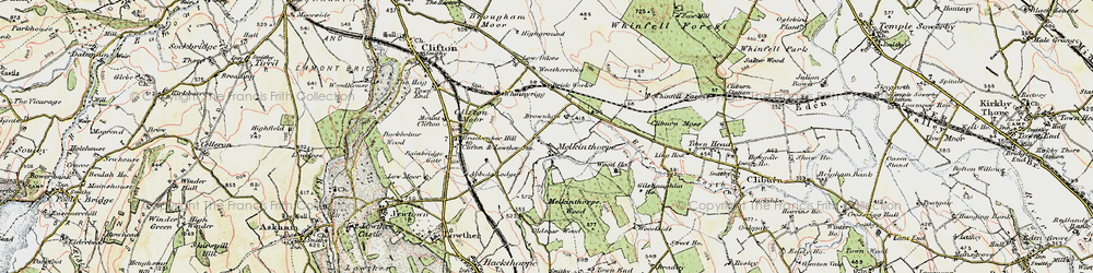 Old map of Leacet Hill in 1901-1904
