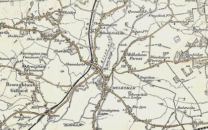 Old map of Melksham in 1898-1899