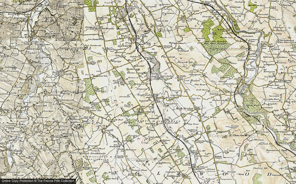 Old Map of Mellguards, 1901-1904 in 1901-1904