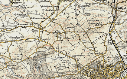 Old map of Mellor in 1903