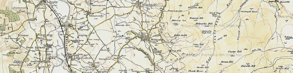 Old map of Todhills in 1901-1904