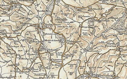 Old map of Melplash in 1898-1899