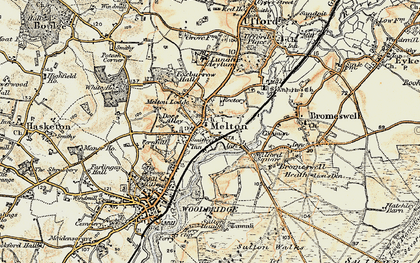 Old map of Melton in 1898-1901