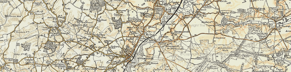 Old map of Wilford Br in 1898-1901