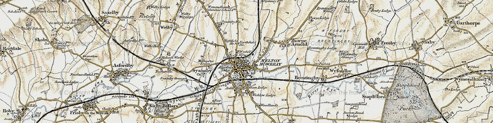 Old map of Melton Mowbray in 1901-1903