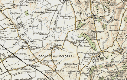 Old map of Wilton Lodge in 1903