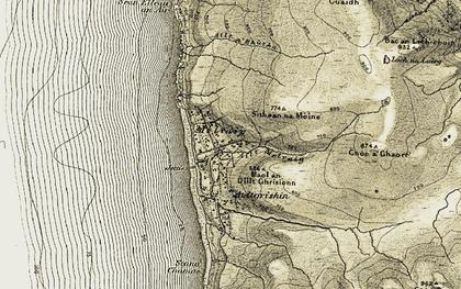 Old map of Allt a' Bhùtha in 1908-1910