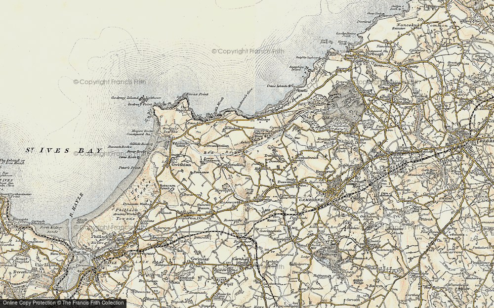 Old Map of Historic Map covering Ashill in 1900