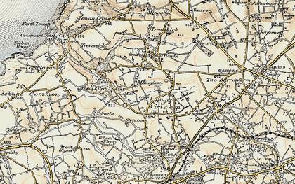 Old map of Menagissey in 1900