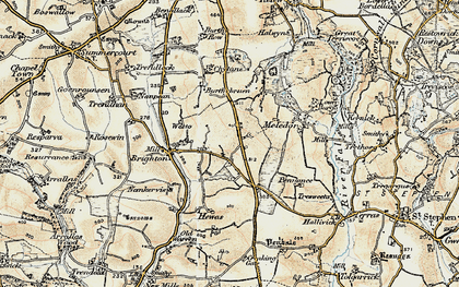 Old map of Menna in 1900