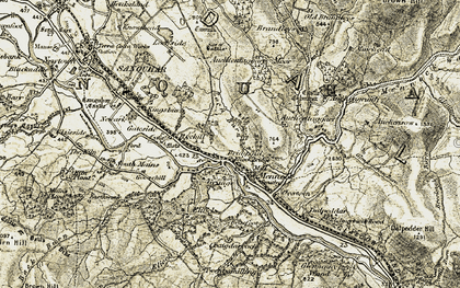 Old map of Auchengruith in 1904-1905