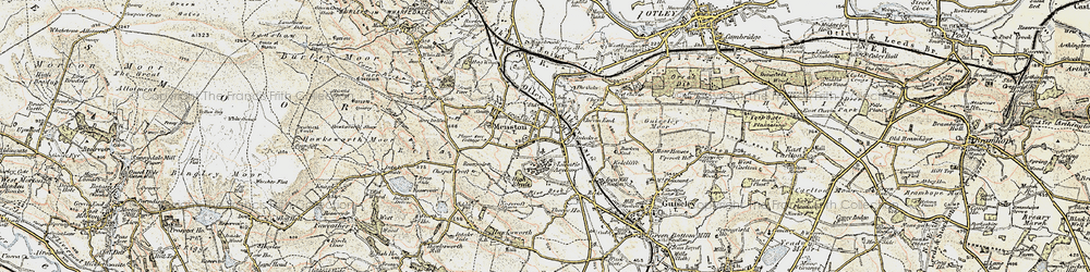 Old map of Mire Beck in 1903-1904