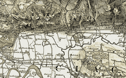 Old map of Menstrie in 1904-1907