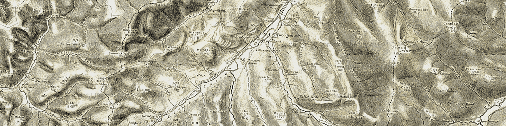 Old map of Wester Hope Burn in 1904