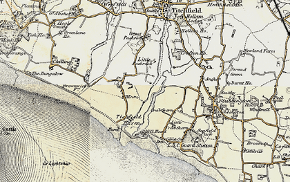Old map of Titchfield Haven in 1897-1899