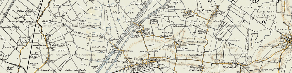 Old map of Widdens Hill in 1901