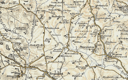 Old map of Mercaton in 1902