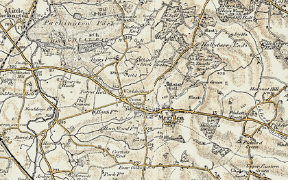 Old map of Meriden in 1901-1902