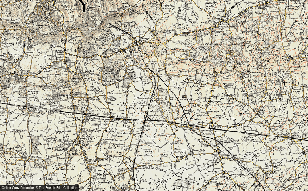 Old Map of Merle Common, 1898-1902 in 1898-1902