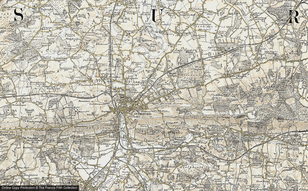 Old Map of Merrow, 1898-1909 in 1898-1909