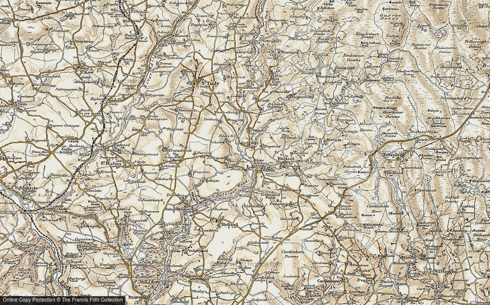 Old Map of Historic Map covering Lavethan in 1900