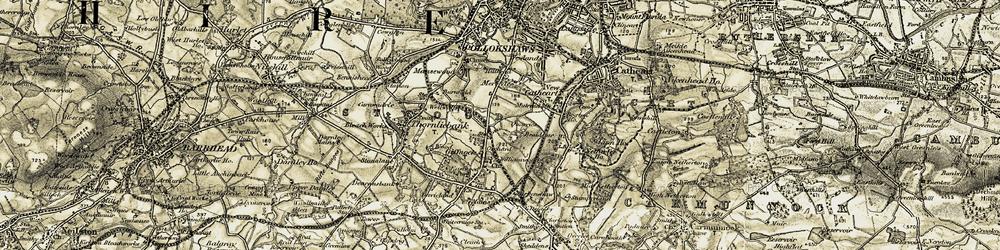 Old map of Merrylee in 1904-1905