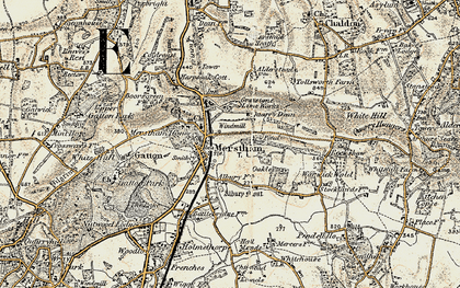 Old map of Merstham in 1898-1902