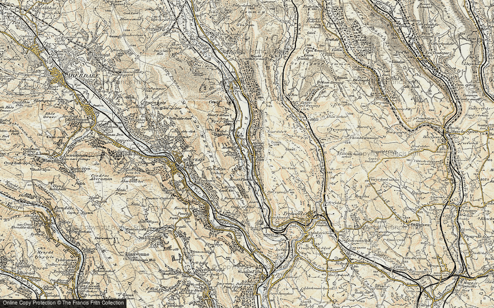 Old Map of Merthyr Vale, 1899-1900 in 1899-1900