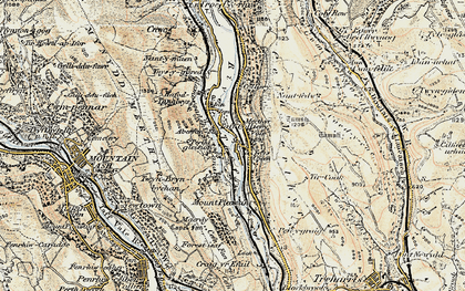 Old map of Tir-Cook in 1899-1900
