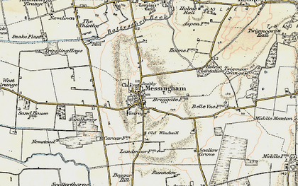 Old map of Messingham in 1903