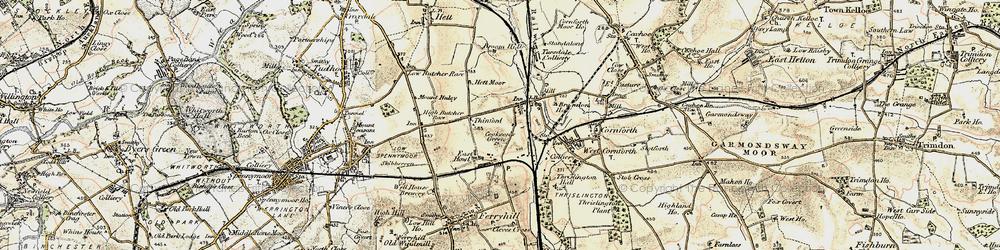 Old map of Metal Bridge in 1901-1904