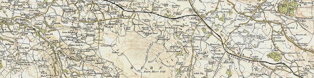 Old map of Alder Gill Syke in 1903-1904
