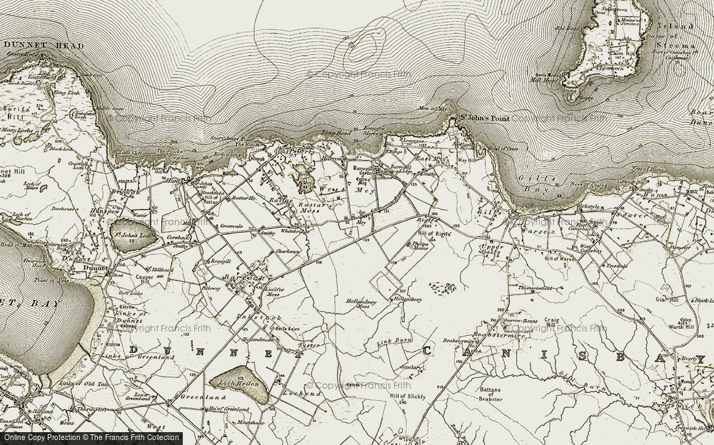 Old Map of Mey, 1912 in 1912