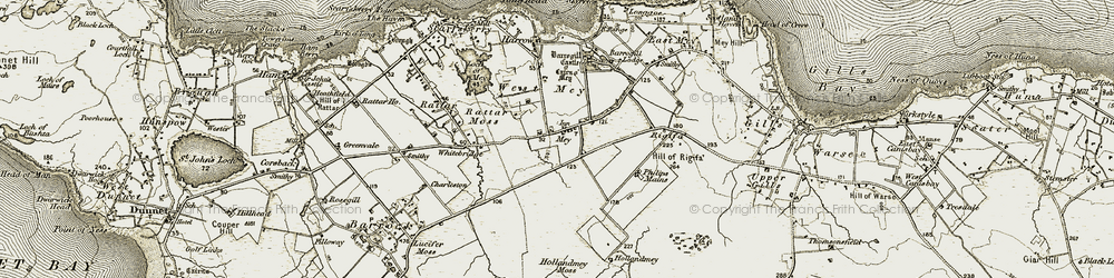 Old map of Mey in 1912