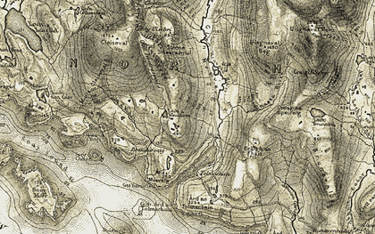 Old map of Bagh Theilisnis in 1911
