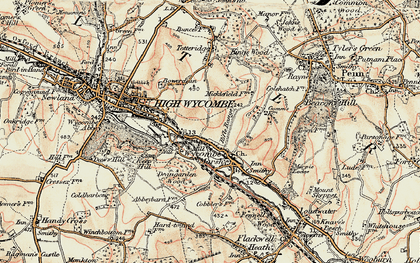 Old map of Micklefield in 1897-1898